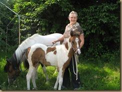 Fohlenschau Umira und Piro (Petras Pferdesuche) 2012 001